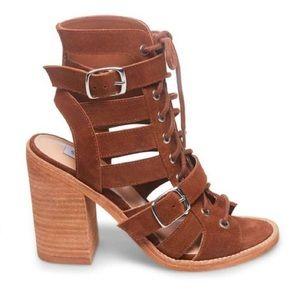🆕 Steve Madden Women's Heeled Sandals Brown Suede
